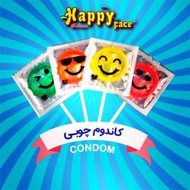 کاندوم آبنباتی Happy Face پک 4عددی